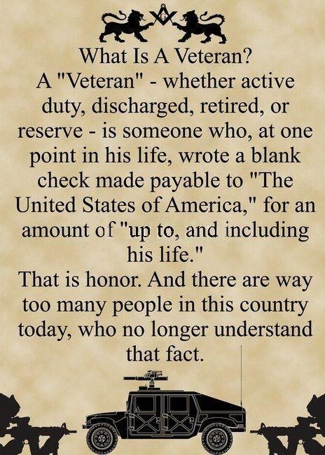 to my hubby, who is a Veteran.