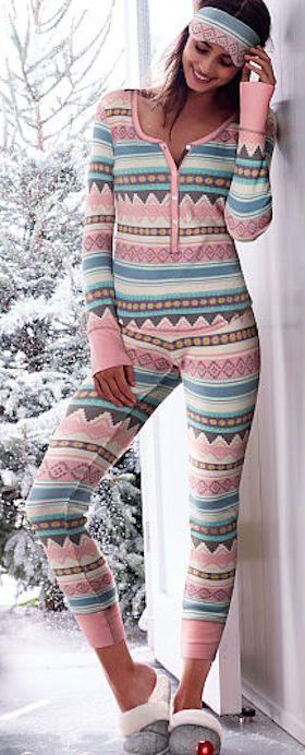 comfy one piece pajamas