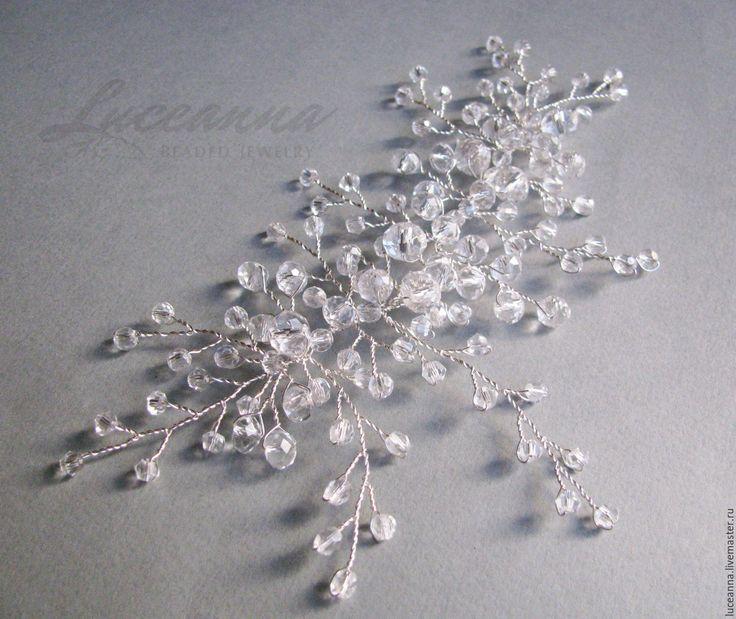Купить Украшение для причёски невесты - белый, свадьба, свадебные аксессуары, свадебное украшение, свадьба 2015