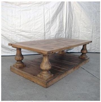 Copycat Bulaster  RH grey wood long coffee table - Google Search