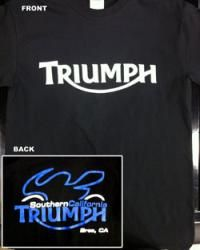 SoCal Triumph 2010 Bike Logo T-Shirt Black from Southern California Triumph/Ducati Accessories