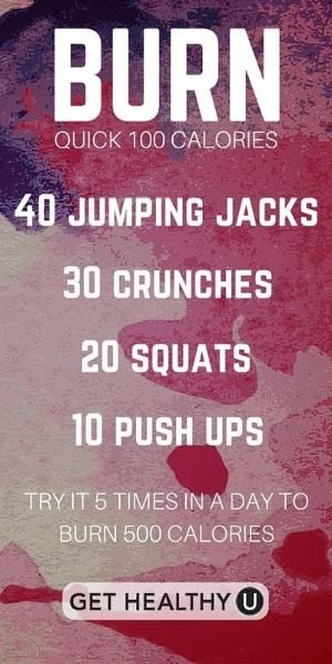 Busy? Us too! Do this quick workout to burn 100 calories fast! by alisha