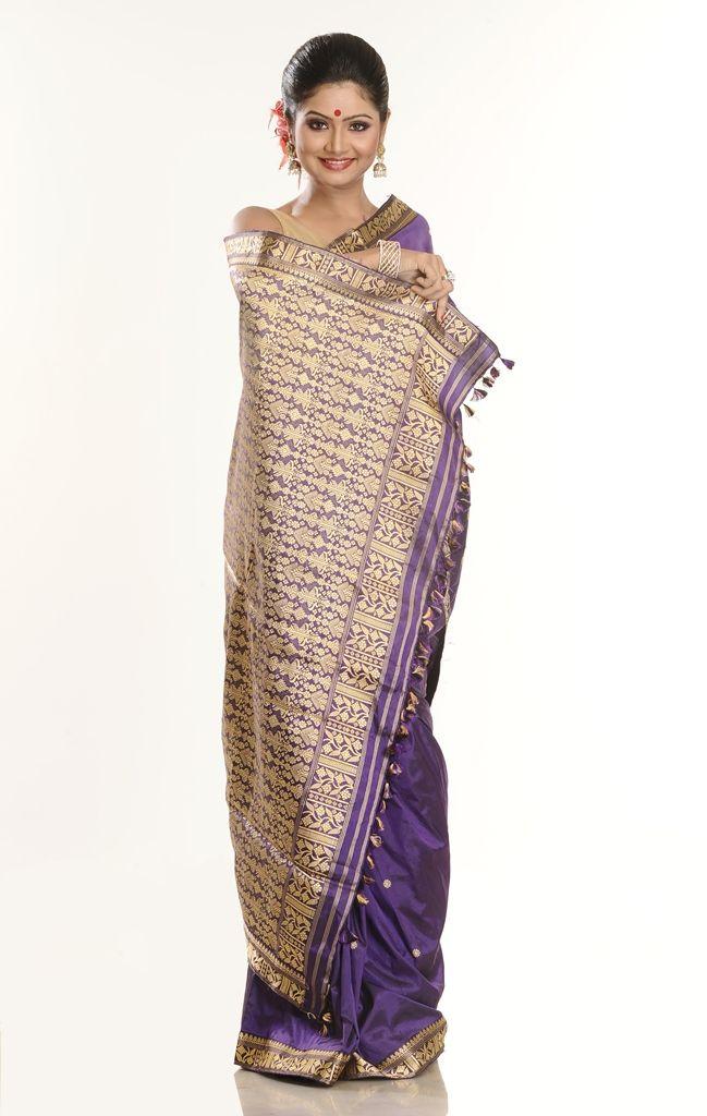 Assam Silk Saree AA265 | | Assam Silk | Assam Silk Sarees | Mekhla Chadar | Muga Silk | Silk Weaving in Assam | Assam Handloom Products| Ass...