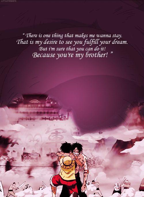 《 Tu m'avais promis que tu ne mourrais pas, Ace. 》#Monkey_D_Luffy #Portgas_D_Ace #OnePiece