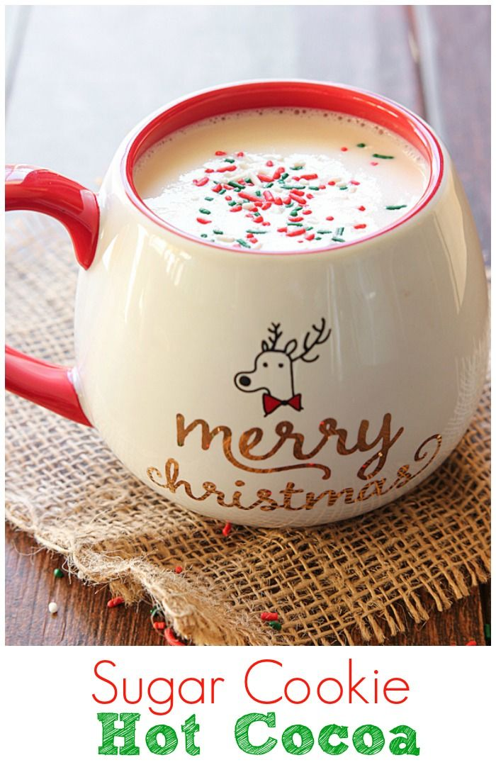 You've had hot cocoa but have you tried Sugar Cookie Hot Cocoa? The delicious flavor of a sugar cookie in hot cocoa form! #FestiveFlavors #ad