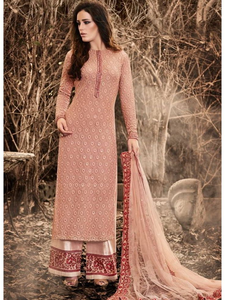 Baby Pink Altruistic Look Embroidered Beautiful PalazzoSuit Ethnicwear Christmassale Womenwear Discount