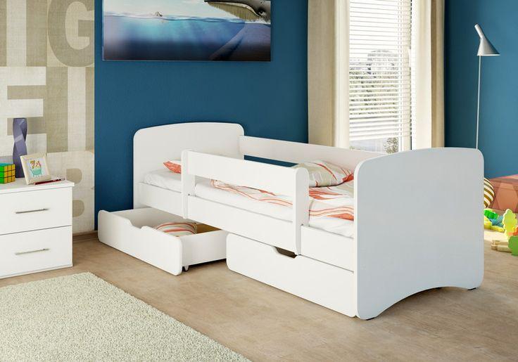 nicenico Kinderbett Jugendbett + 2 Bettkästen + Matratze 180/80 WEIß kaufen bei Hood.de