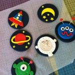 How to make Space cupcake toppers by Bronnie Bakes