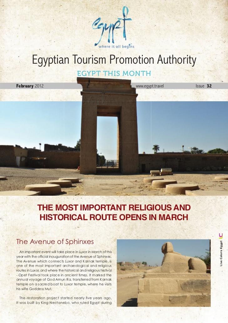 Feb-2012 by Egypt Tourism Board via Slideshare