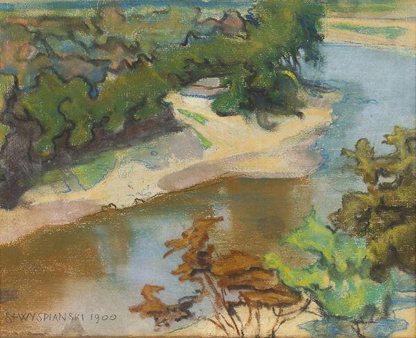 Pejzaż z rzeką - Stanisław Wyspiański