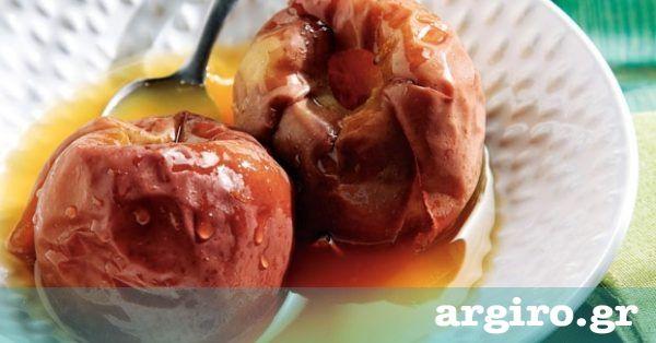 Νόστιμα και λαχταριστά μήλα, τα σερβίρουμε ζεστά σαν κομπόστα ή κρύα με παγωτό ή χτυπημένη κρέμα για επιδόρπιο.