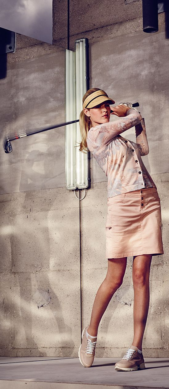 Golf is no longer an old boy's game: feminine skirts designed specifically for the golf course from the Bogner Sport Golf Spring/Summer 2016 collection offer exceptional performance without compromising on style. See more styles from the collection here soon!