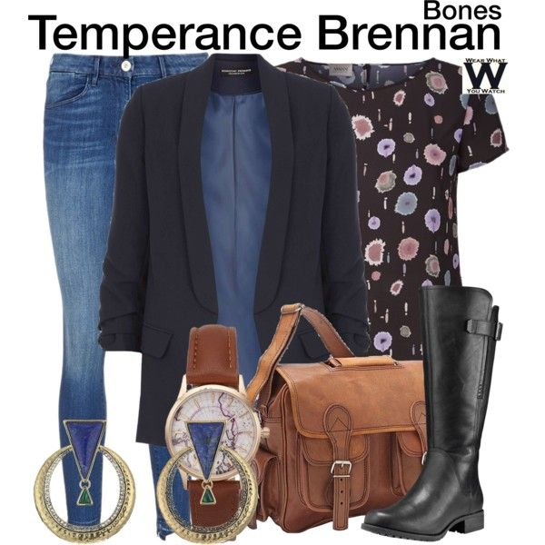 Inspired by Emily Deschanel as Temperance Brennan on Bones.