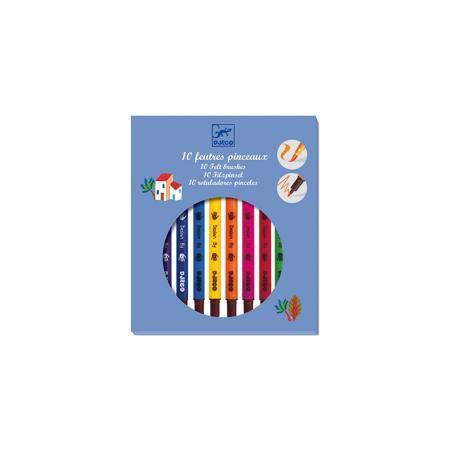 DJECO Фломастеры двухсторонние, классические  — 1168 руб.  —  Набор двусторонних фломастеров от французского производителя Djeco - превосходная основа для творчества вашего ребенка. Необычные двусторонние фломастеры позволят ребенку создать интересные картины и украсит ими детскую комнату. В наборе 10 двусторонних разноцветных фломастеров. Цвет корпуса фломастера сразу подскажут малышу, каким цветом он будет рисовать. С одной стороны - для тонких линий, с другой стороны - фломастер в виде…