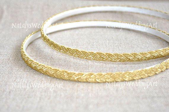 90$ STEFANA Greek Wreaths Gold color by NatalysWeddingArt Etsy shop