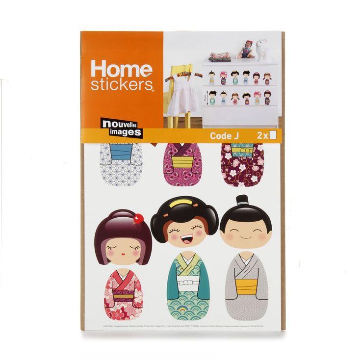 Stickers pour enfants : poupées japonaises Muticolore - Kids - Stickers pour chambre enfants - Décoration pour enfant - Univers des enfants - Décoration d'intérieur - Alinéa