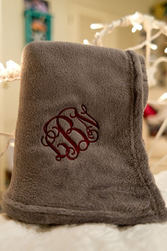 Monogrammed Blanket /Embroidered blanket by AllysMonograms on Etsy