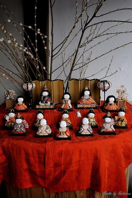 Japanese Hina dolls #hinamatsuri