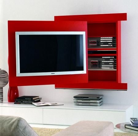 157 best images about tv media rooms on pinterest modern - Muebles para espacios reducidos ...