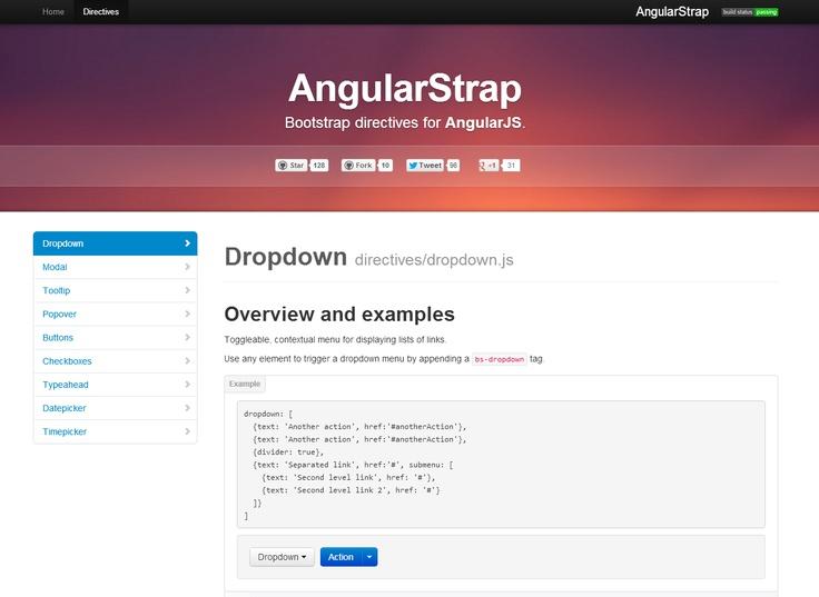 Angular Strap - Bootstrap directives for AngularJS
