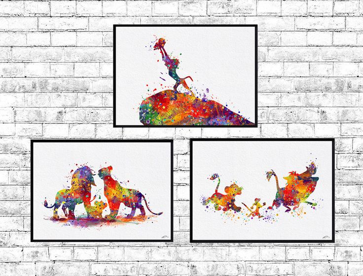 The Lion King Family Special Offer Set of 3 King Mufasa Simba Queen Sarabi Rafiki Watercolor Print Disney Lion King Poster Simba Nursery art by ArtsPrint on Etsy https://www.etsy.com/uk/listing/242488923/the-lion-king-family-special-offer-set
