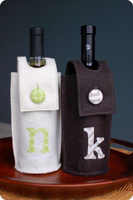 33 Shades of Green: Handmade Holidays. . .Felt Wine Sleeve