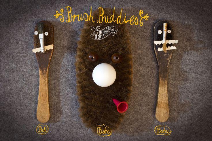 Brush Buddies By Robert Romanowicz Bibi, Bebe and Bubu