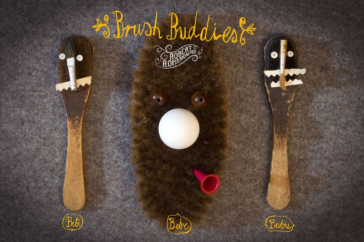 Brush Buddies By Robert Romanowicz Bibi, Bebe and Bubu