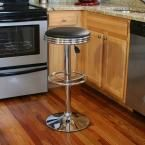 AmeriHome Retro Style 30 in. Soda Fountain Bar Stool in Black BS1208 at The Home Depot - Mobile