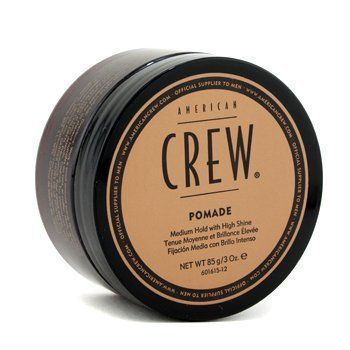 Men Pomade For Hold  Shine - American Crew - Classic - 85g/3oz by AMERICAN CREW. $15.99. Contains versatile water-based formula Perfect for slicked back or rough textured, high shine styles Ideal for curly or straight hair Apply to towel-dried hair. Comb or brush into place - American Crew - Classic