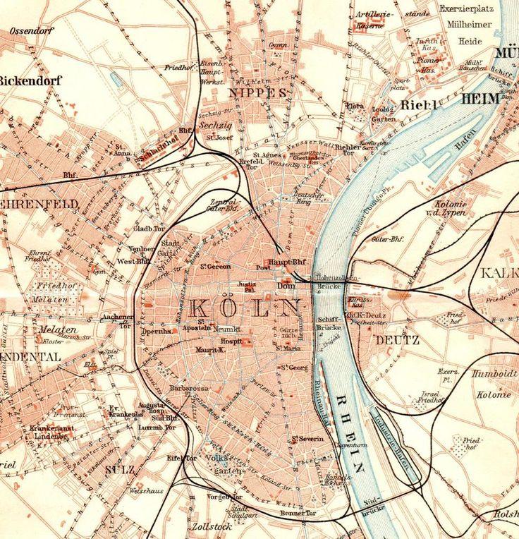 20 best cologne images on pinterest cologne germany cologne and antique map cologne 1910 karte kln rhin rhine river keulen kaart plattegrond gumiabroncs Images
