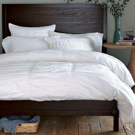 dark wood bed frame