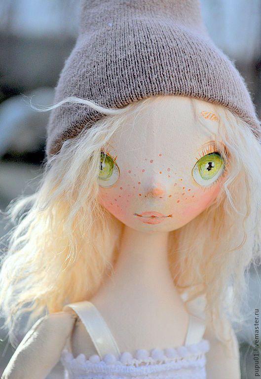 Купить Коллекционная кукла Тролька - бежевый, кукла в подарок, коллекционная кукла, игровая кукла