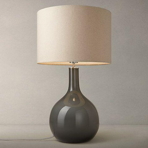 Buy John Lewis Faye Shaped Glass Table Lamp, Grey Online at johnlewis.com