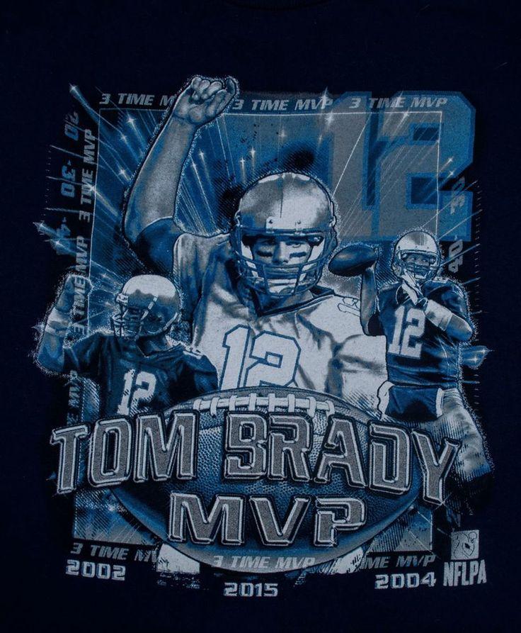 navy blue 2015 TOM BRADY MVP t-shirt men's Med New England Patriots  #DeltaProWeight #NewEnglandPatriots