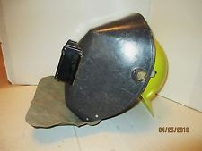 Jackson Welding Helmet Vintage With Attached Hardhat and Leather Throat Shield