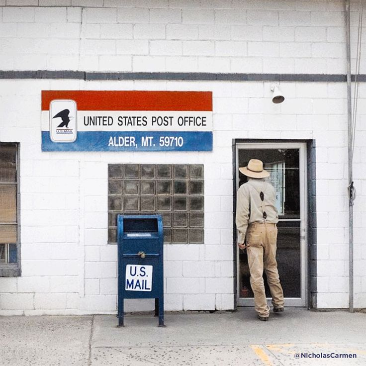 US Post Office In Alder Montana
