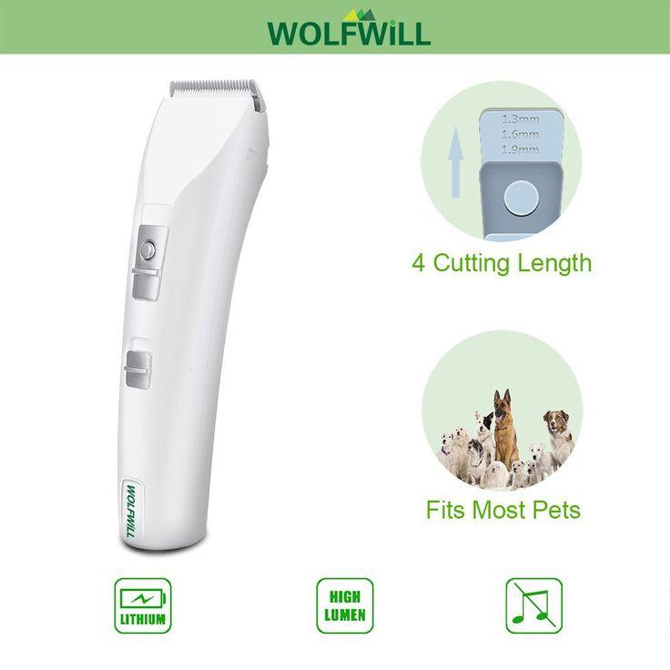 WOLFWILL Tondeuse Electrique Rechargeable Sans Fil pour Poil d'Animaux Chien / Chat: Amazon.fr: Animalerie