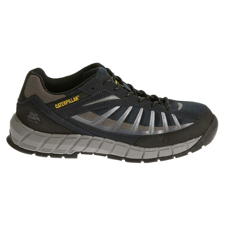 Caterpillar Men's Infrastructure Medium/Wide Steel Toe Work Shoes (Navy/Grey) - 11.0 M