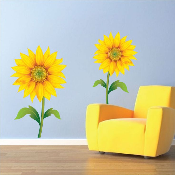 Best Floral Wall Decals Images On Pinterest Floral Wall - Yellow flower wall decals