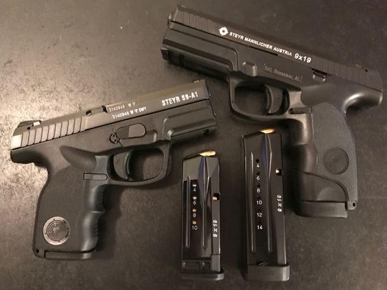 The Steyr M-A1 striker-fired pistol is a mid-sized, semi