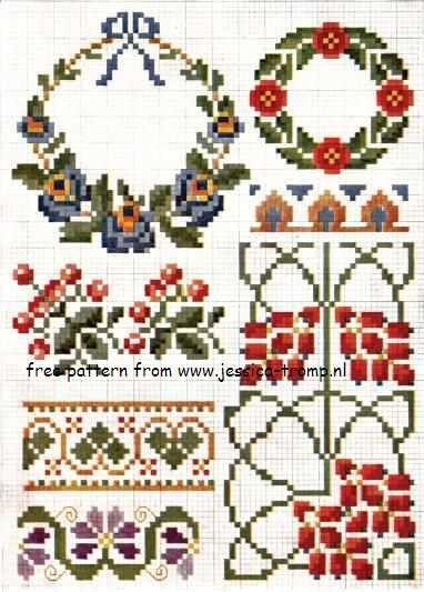 free DMC cross stitch patterns gratis borduurpatronen kruissteekpatronen