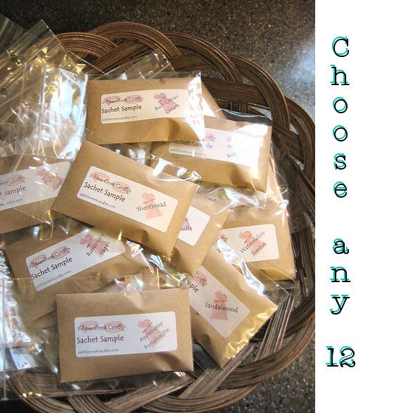 12 Mini Scented Drawer Sachets, enough for the whole family by pebblecreekcandles, #minisachets #scenteddrawersachets #DIYgifttags