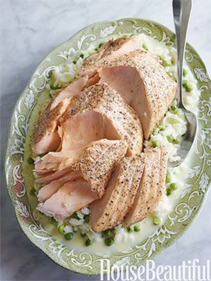 Gabrielle's Kitchen Salmon Cooked in Parchment with Creamy Lemon Rice