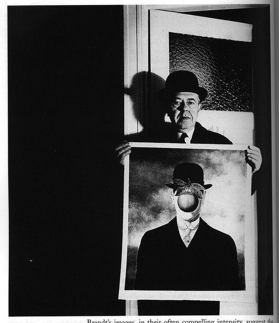 Bill Brandt photograph of  René Magritte