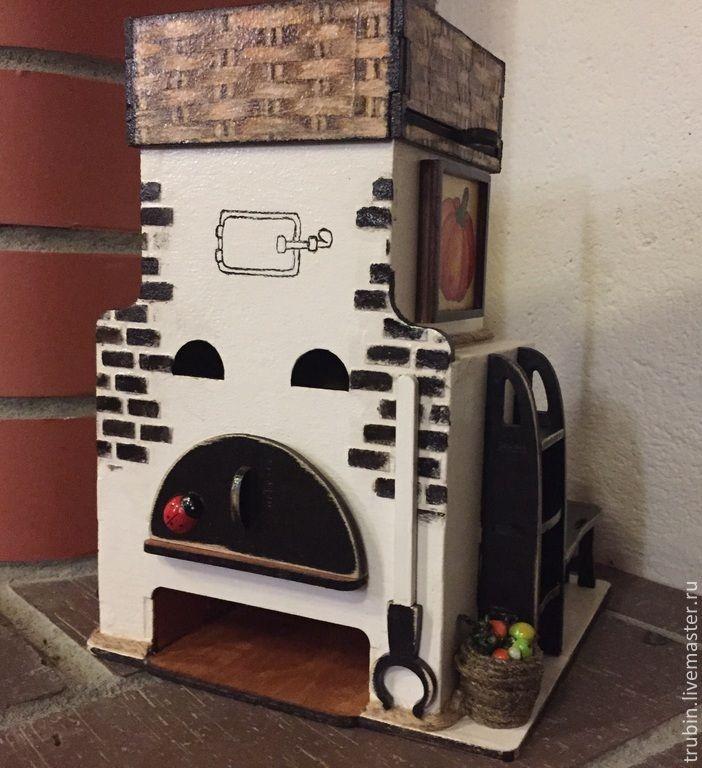 Купить Печка чайный домик - домик для чая, чайный домик, печка, Декупаж, декупаж работы