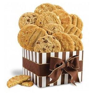Baker's Dozen Fresh Baked Cookies: Chocolate & Sweet Baskets - A heavenly assortment of fresh, moist cookies.