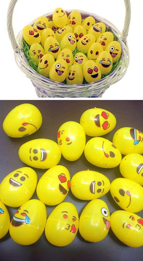 Emoji Easter Eggs, 24-Pack | Easy Easter Egg Decorating Ideas for Kids