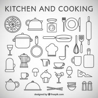 letras con utencilios de cocina - Buscar con Google