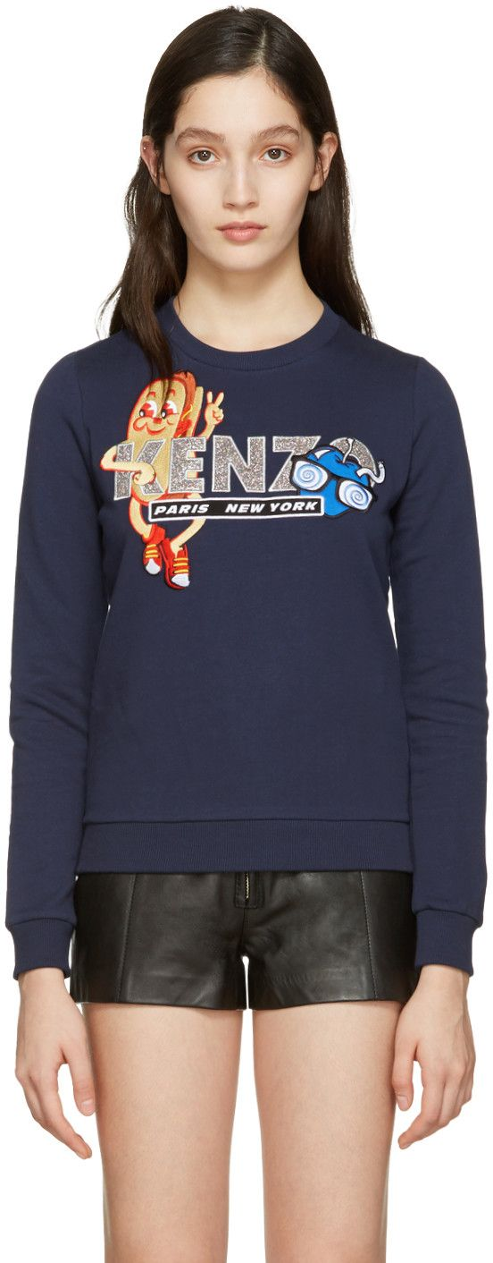 KENZO Navy Hot Dog Pullover. #kenzo #cloth #pullover
